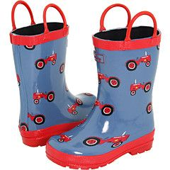 I just love little kid rain boots! Can't wait to buy a pair for my boy this spring!  (even found his favorite theme!)