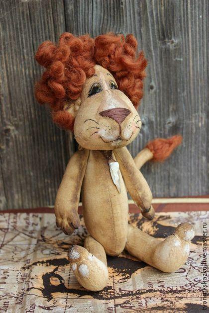 Лев Сын Саванны - коричневый,лев,львенок,ароматизированная игрушка,интерьерная игрушка