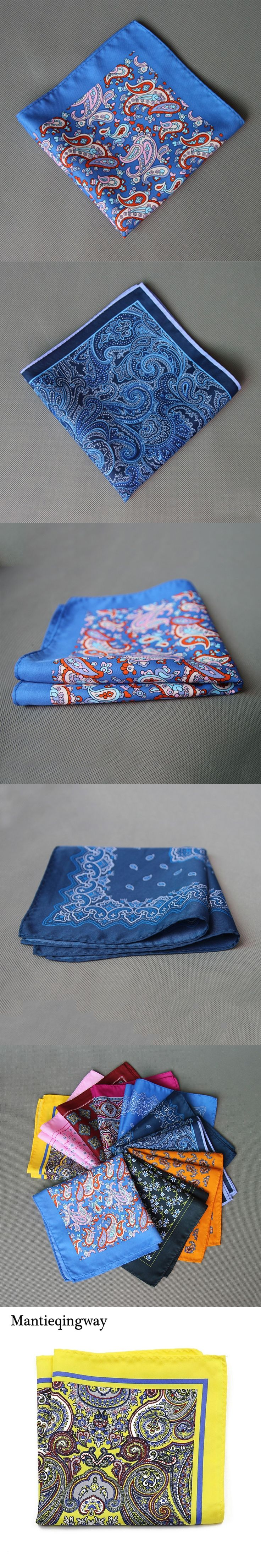 Mantieqingway Vintage Ladies Paisley Floral Handkerchiefs Pocket Square Wedding Suits Handkerchief for Mens Pocket Towel Hanky