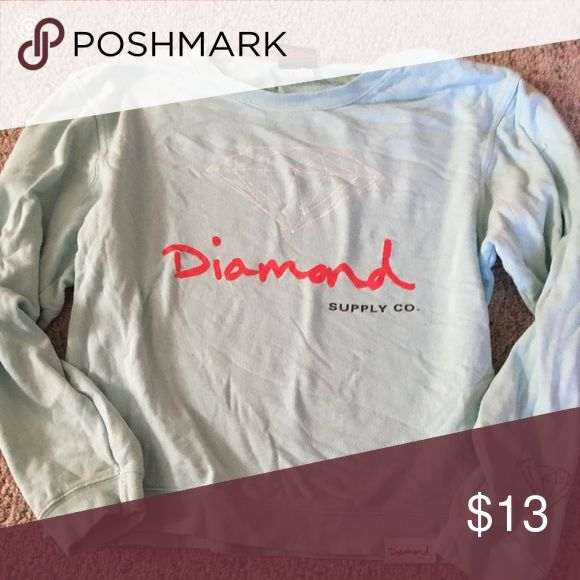 Diamond Supply Co pullover Diamond Supply Co women's pullover sweatshirt. Mint color. Used. Good condition. Diamond Supply Co. Sweaters Crew & Scoop Necks