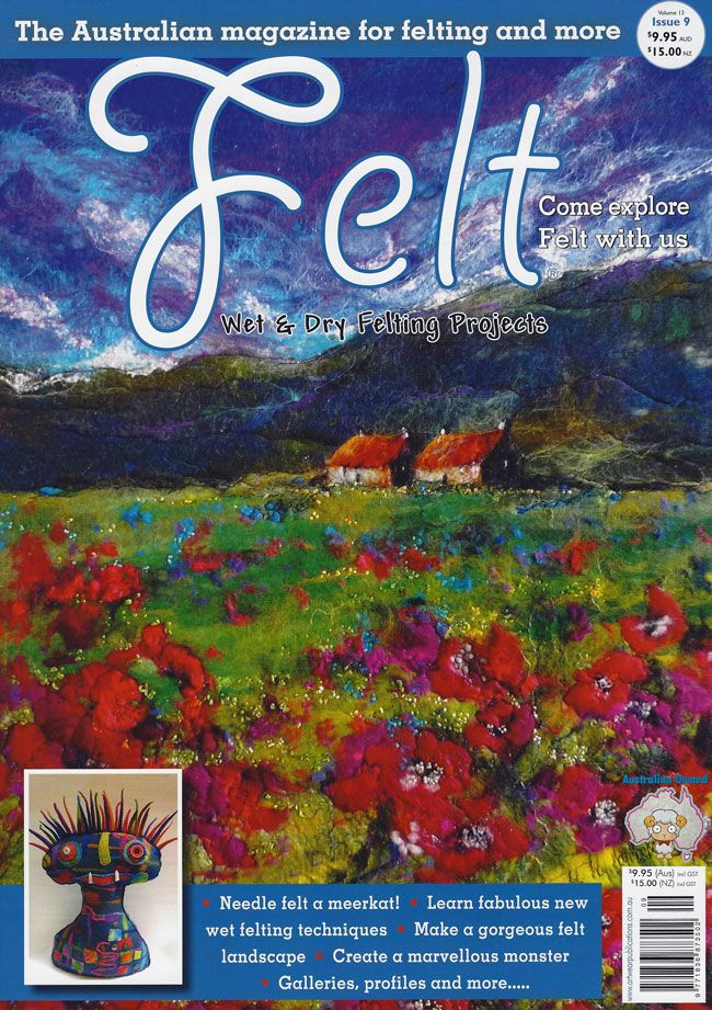 Quality Felt Magazines published in Australia and available from Australian Needle Arts http://www.australianneedlearts.com.au/Felt%20Magazine%20Issue%2016