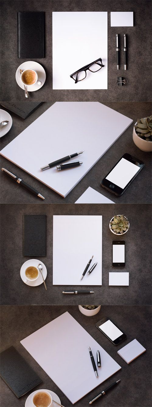 Four PSD Stationery Mock up Templates » Free Special GFX Posts Vectors AEP Projects PSD Web Templates | HeroGFX.com