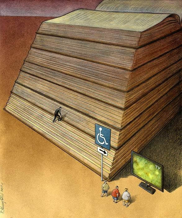 *Leer es tedioso, ver la televisión es más fácil. La cultura de muchas personas.
