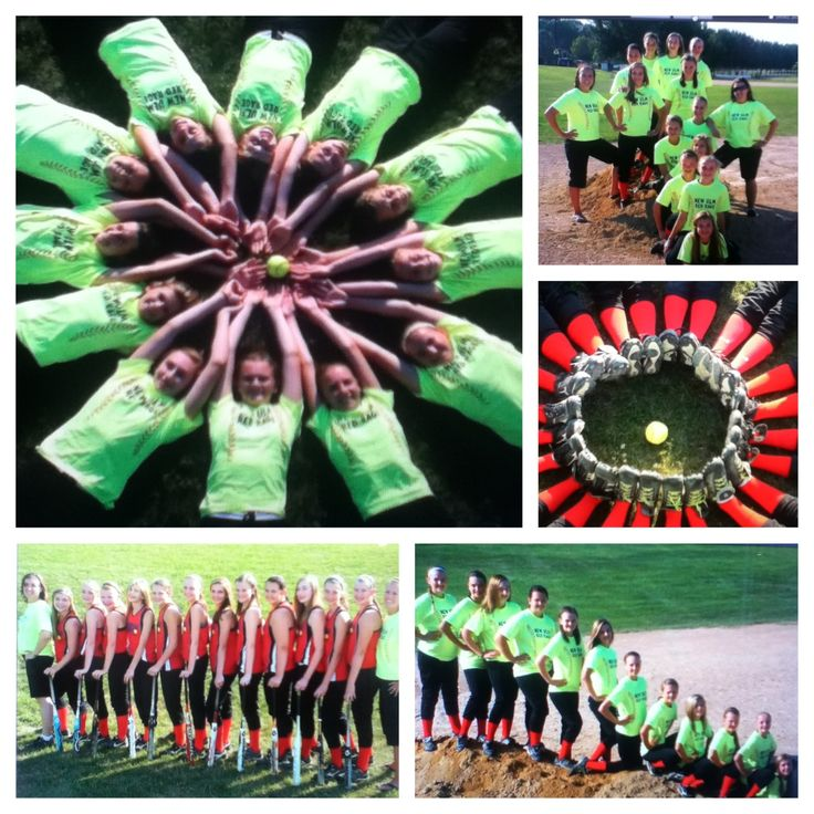 My team Cute ideas for softball pictures