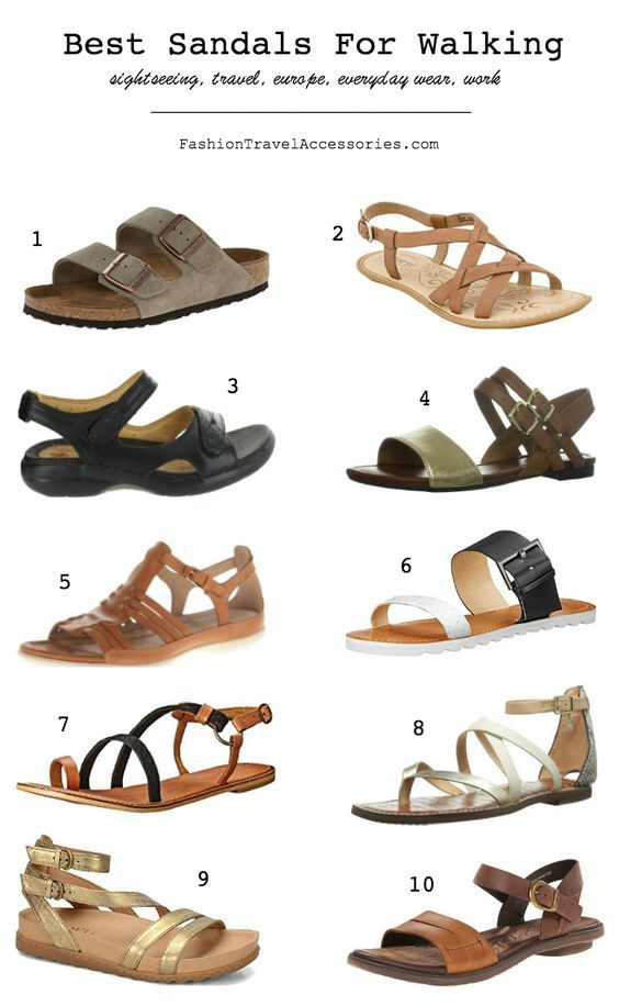 Best Sandals for Walking in Europe, cobblestone streets, travel & everyday  wear. These sandals are comfortable & stylish suited for all types of feet.