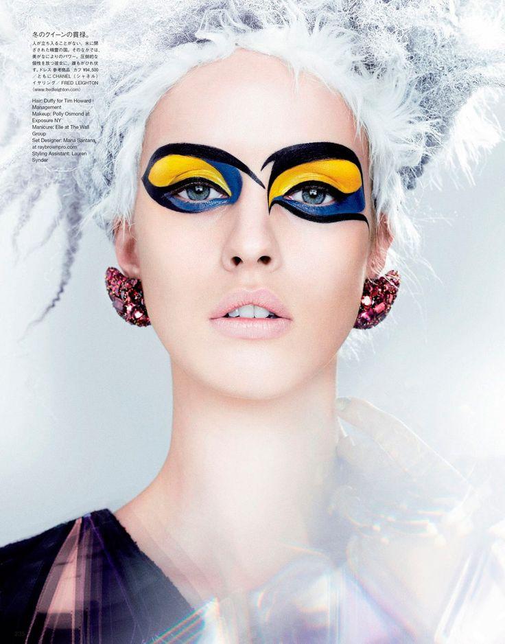 Необычный яркий макияж глаз