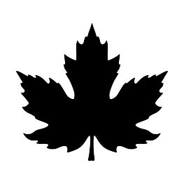 FREE SVG PDF PNG JPG EPS Maple Leaf Silhouette   Cut up ...