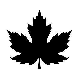 FREE SVG PDF PNG JPG EPS Maple Leaf Silhouette