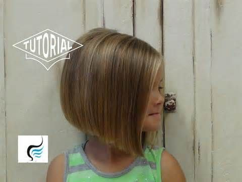 nice Little Girl Bob Haircut With Bangs