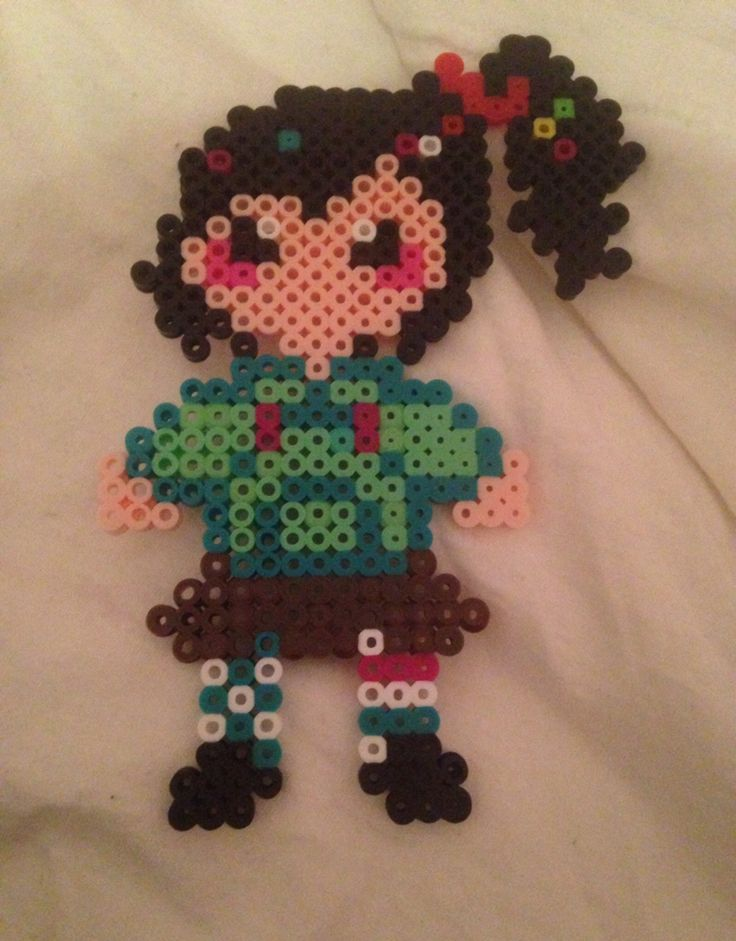 Vanellope - Wreck-It Ralph perler beads by Nelly S