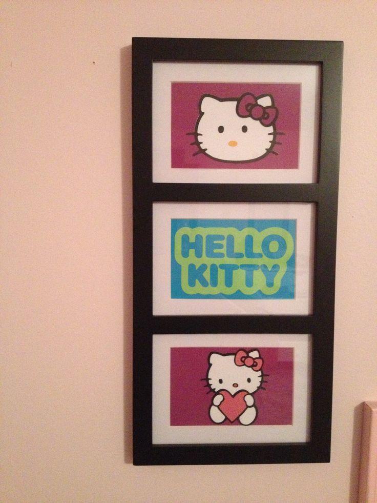 Hello Kitty room decor-Frame Hello Kitty pics/calendar