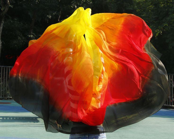 design 100% real silk belly dance veil, cheap dance veils,tari perut kostum veil wholesale 250 270*114cm