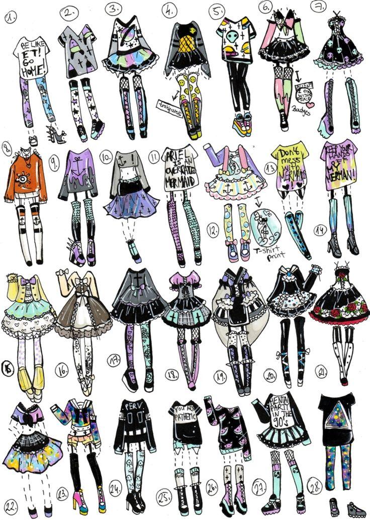 Смешные нарисованные картинки одежды