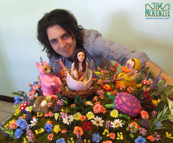 sculpture, tim burton, willy wonka, bunny, puggle, easter, essence of easter, character design, concept art, jim mckenzie, jimmckenzie, art,...