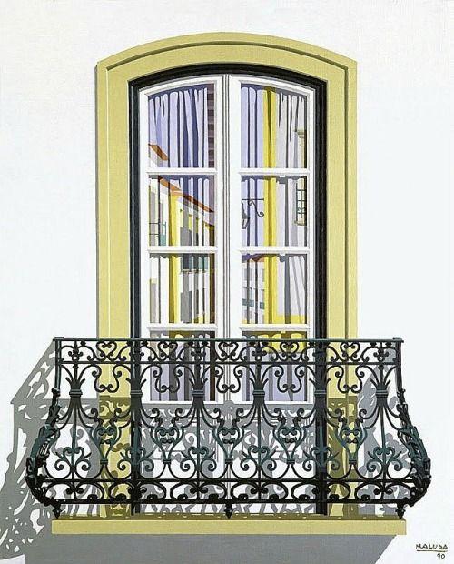 Traditional Portuguese architecture from the XVIII century, Portugal | #Portuguese_windows #Portugal