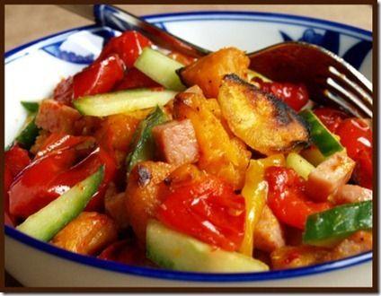 Verduras asadas en horno