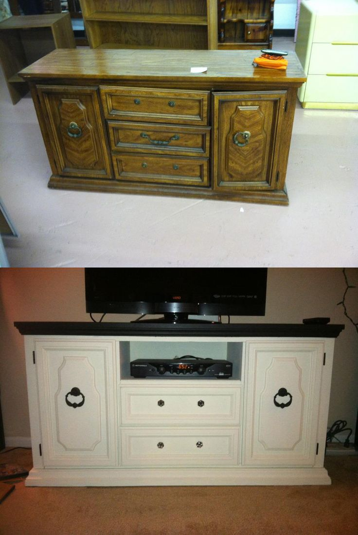refinished dresser/tv stand...