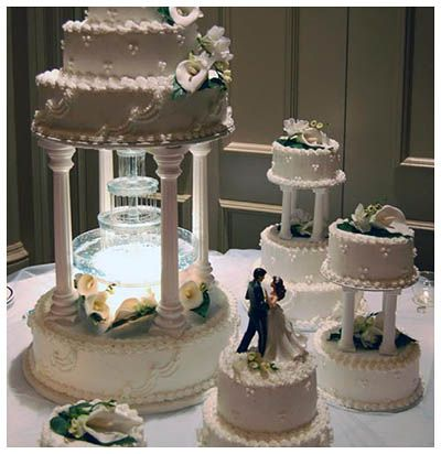 nice The Natural Concept of Wedding Cakes with Fountains