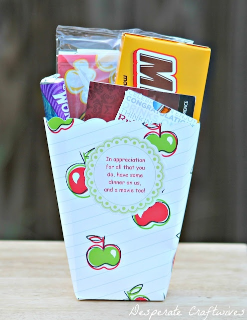 cute teacher gift idea..our child's teacher is going to love us.  ;)
