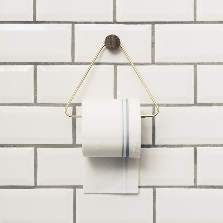 Scandinavian design toilet paper holder from ferm Living is both beautiful and…