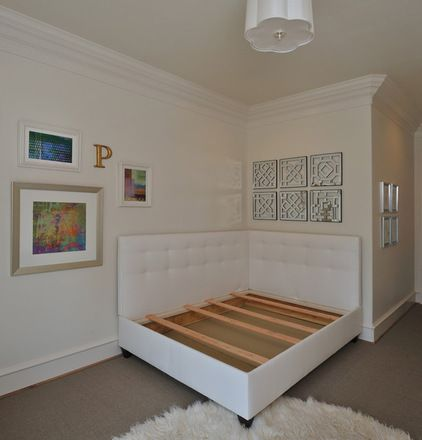 Dual Headboards for a corner bed. How to build it.    traditional bedroom by Carla Aston | Interior Designer