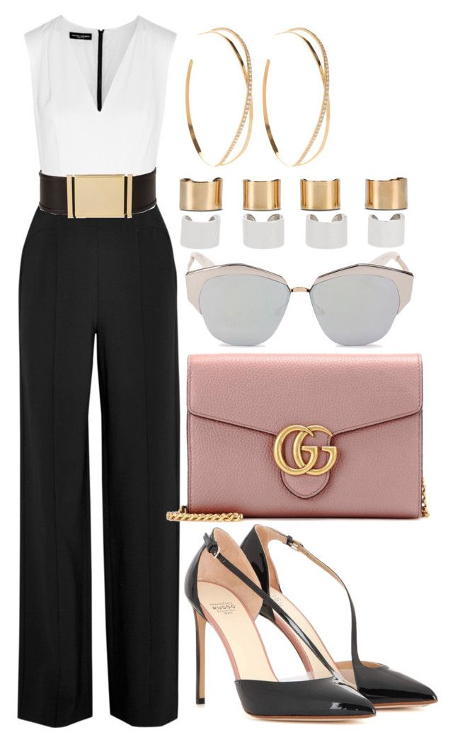 Style #413 by asyuraa on Polyvore featuring polyvore fashion style Narciso Rodriguez Francesco Russo Gucci Maison Margiela Lana Christian Dior Balmain clothing
