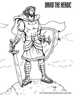David be es king coloring page