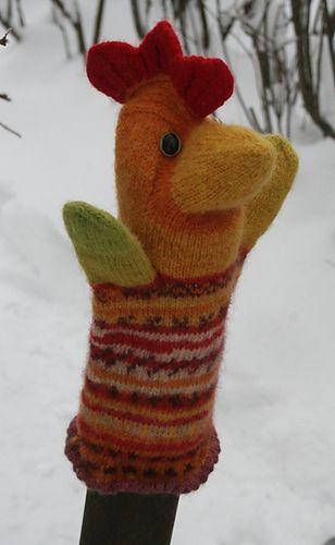 Estonian rooster hand-puppet by Anu Raud & Anu Kotli