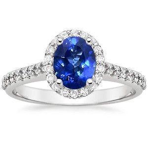 Sapphire Fancy Halo Diamond Ring #BrilliantEarth #Sapphire #Engagement
