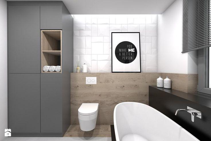 Projekt domu jednorodzinnego 3 - Łazienka, styl skandynawski - zdjęcie od BAGUA Pracownia Architektury Wnętrz