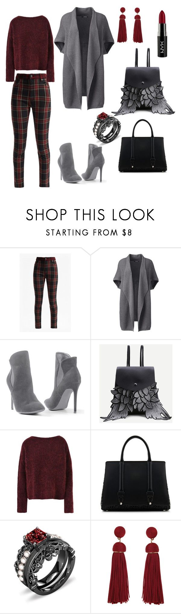 """Untitled #10"" by t7atti ❤ liked on Polyvore featuring French Connection, Lands' End, Venus, 8, La Perla, Humble Chic, NYX and plus size clothing"