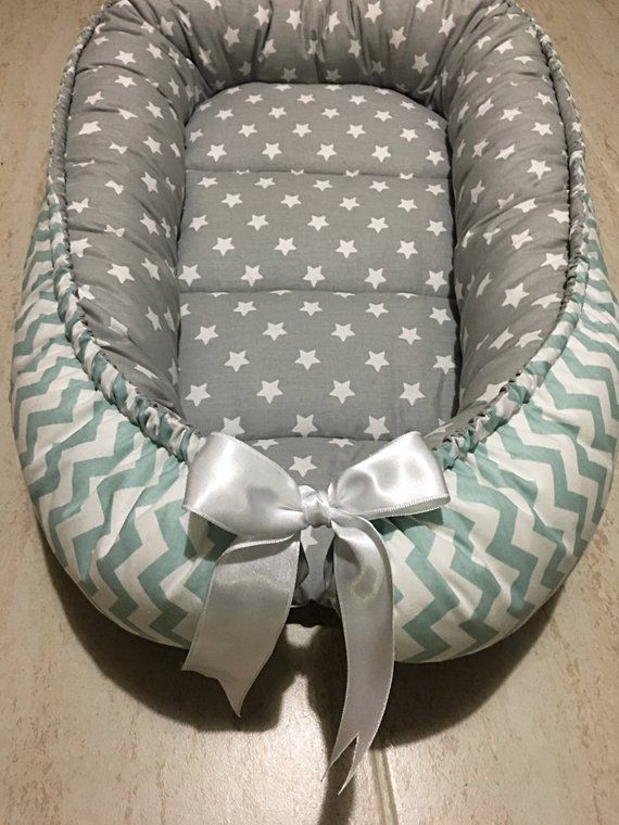 Gray Baby Nest For Newborn And Toddler Babynest Sleep Bed Cot