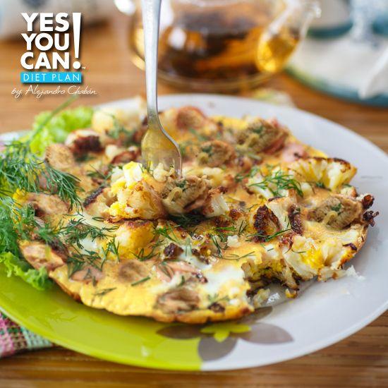 Cauliflower Eggs a healthy option for your Yes You Can! Diet Plan dinner  #Nutrición y #Salud YG > nutricionysaludyg.com