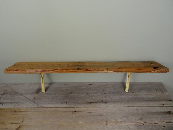 Hand Made Reclaimed Wood Shelf Live Edge Wooden by TheHomeMarket