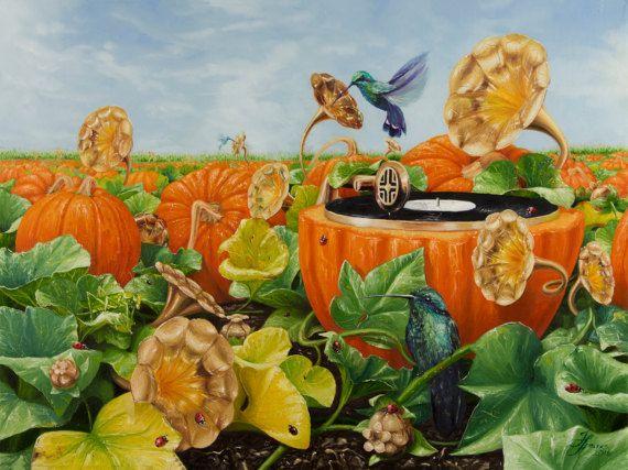 Musical Nectar. Original surrealistic medium size by ArtwaveStudio