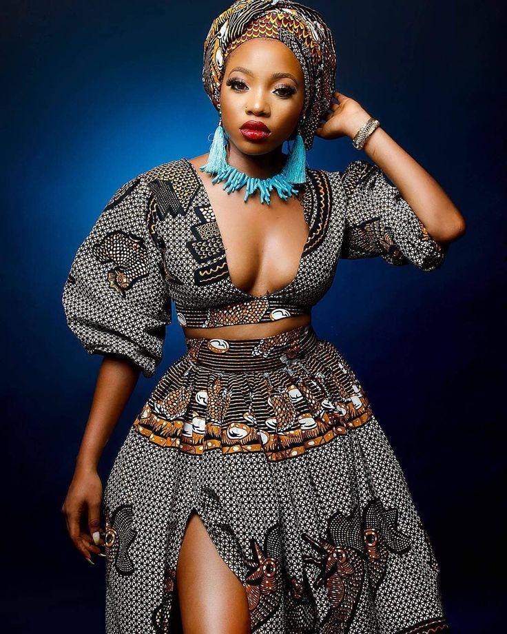 The Ibadan Ankara Agbada Dress&Matching Cap for Women, The