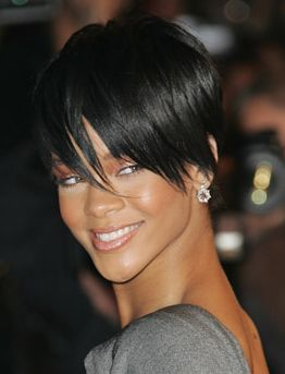 Rihanna Short Layered Hairstyle