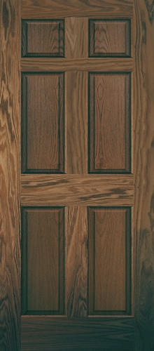32 X 80 Pre Finished English Chestnut Oak 6 Panel Interior Door Only At Menards Colorzzzz