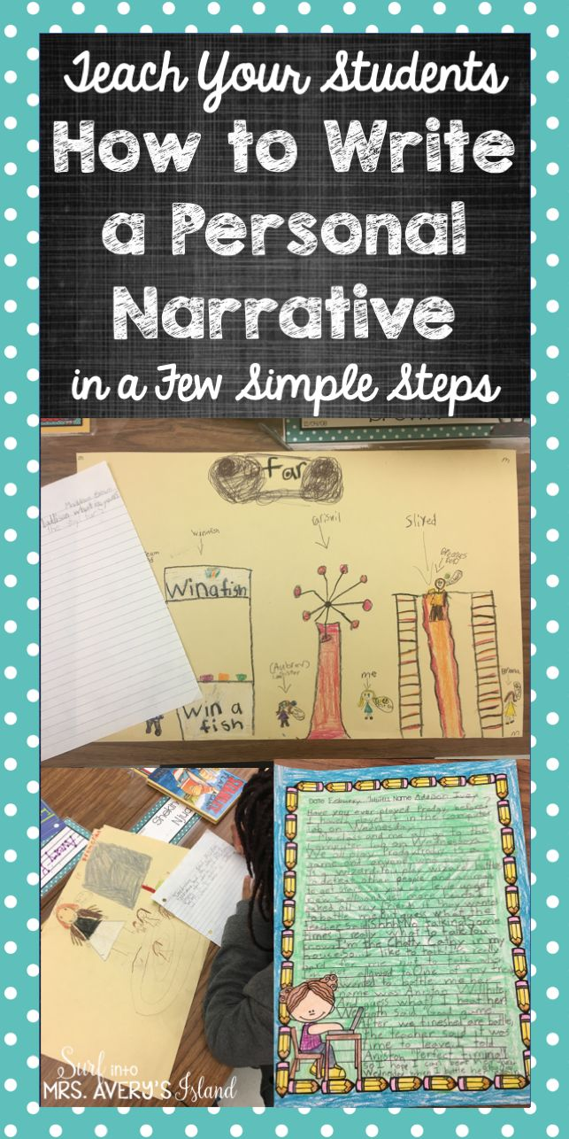 Writing does not have to be dreaded in any classroom by any student!  Click here to see how to teach your students to be creative writers and produce quality personal narratives in just a few simple steps!