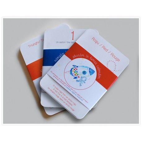 """Carduri educationale """"Cifre, numere si culori"""" - Hippo Atelier"""