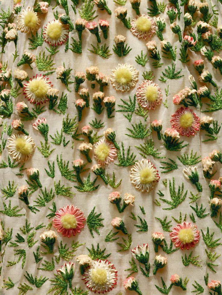 """Christian Dior (French, 1905–1957). """"Vilmiron"""" dress (detail), spring/summer…"""