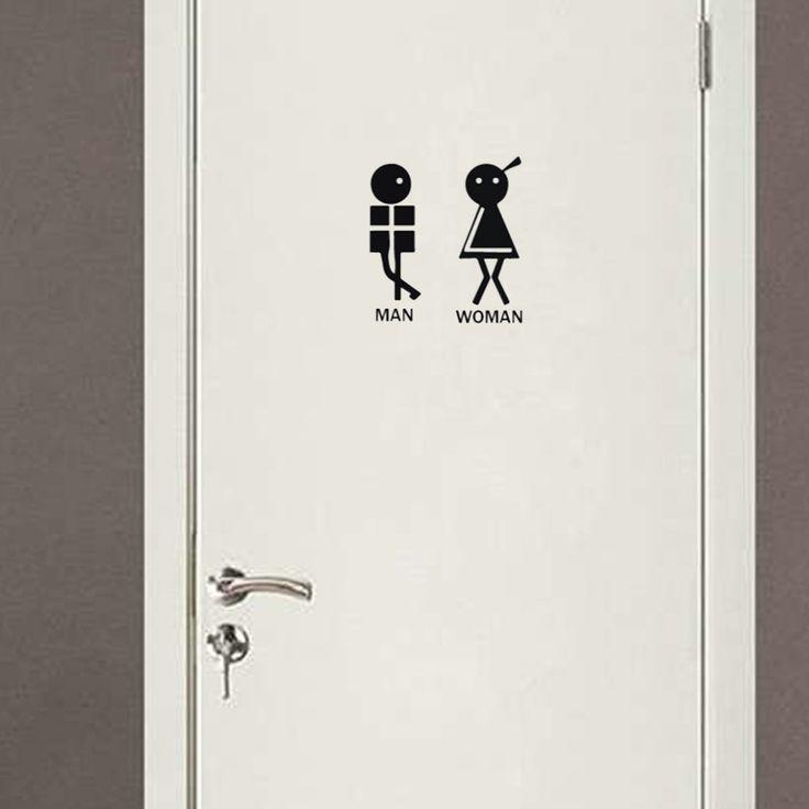 Black English creative DIY wall stickers toilet stickers  Home Decoration wallpaper  JG1796