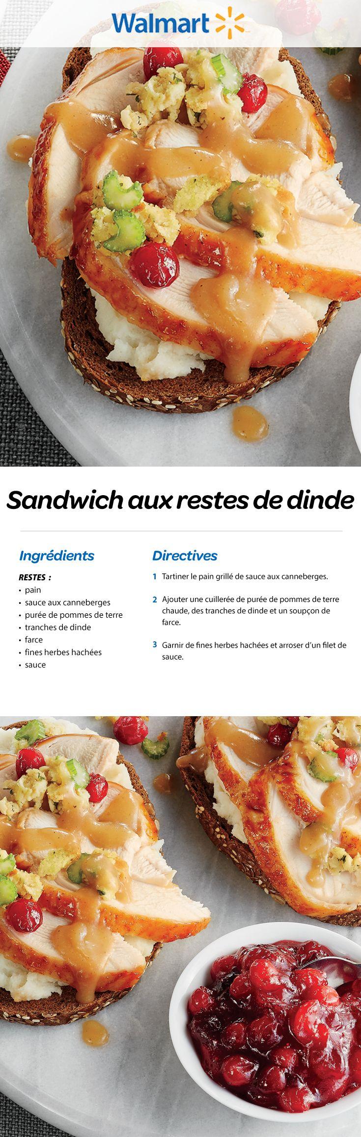 Sandwich aux restes de dinde