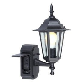 Portfolio Outdoor Wall Light with GFCI Outlet  $40. Its a very nice fixture and very easy to install. I really like it. 5/5