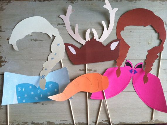 Frozen Photo Booth Props- Ready to go from Ella Jane Crafts