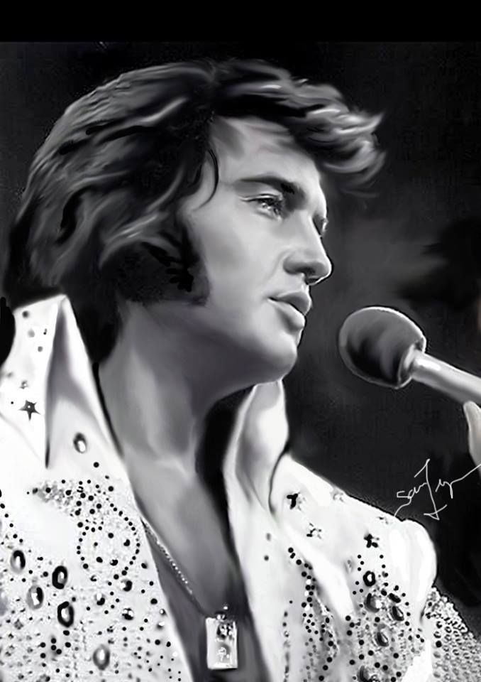 ( 2015 † IN MEMORY OF ) Elvis Art by Sara Lynn Sanders. >† ♪♫♪♪ Elvis Aaron Presley - Tuesday, January 08, 1935 - Tupelo, Mississippi, U.S. Died; Tuesday, August 16, 1977 (aged of 42) Memphis, Tennessee, U.S. Resting place Graceland, Memphis, Tennessee, U.S. Education. L.C. Humes High School Occupation Singer, actor Home town Memphis, Tennessee, USA.