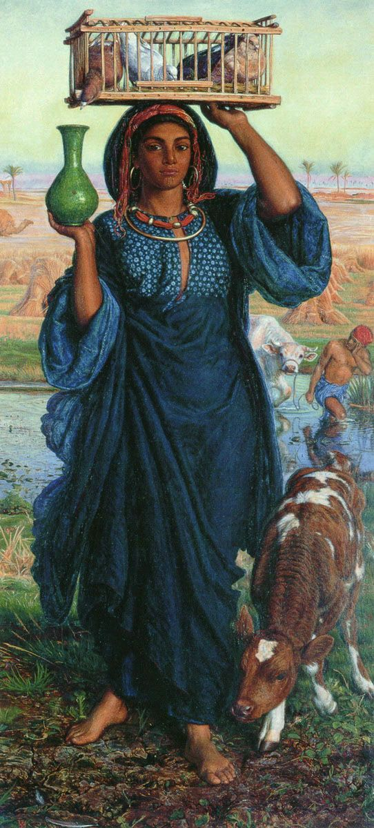 William Holman Hunt - The Afterglow in Egypt. British Orientalist.