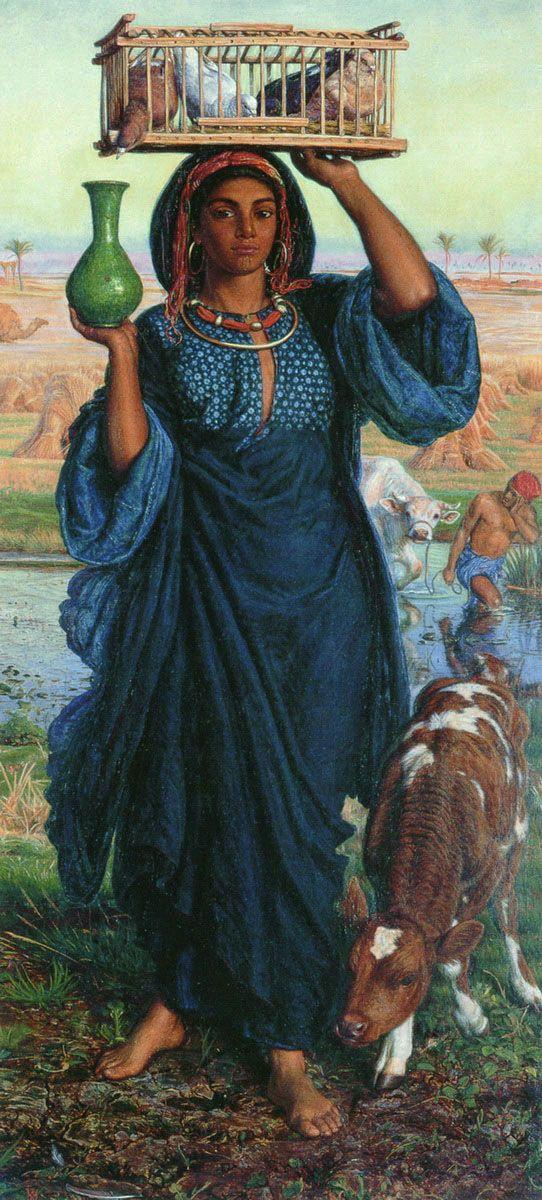 William Holman Hunt - The Afterglow in Egypt. British Orientalist.