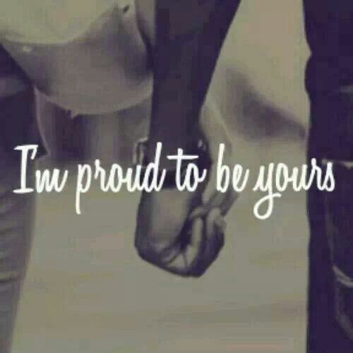 I'm always proud of my Marine boyfriend and I'm proud to be by his side :)