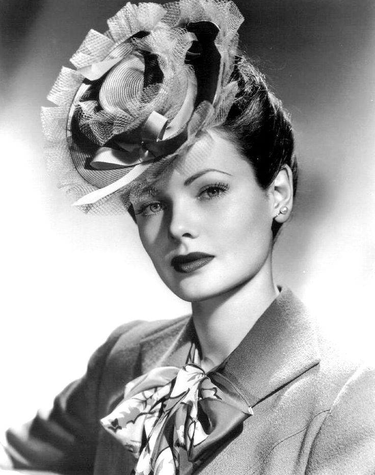 Gene Tierney. Why is it that all the movie stars could pull off ridiculous little hats?